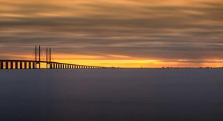Sunset at Öresundsbron