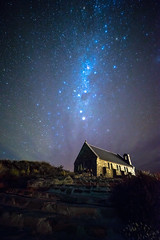Good shepherd church, Lake Tekapo (kllauphotograph.com) Tags: newzealand nz sony a7 travel samyang 14mm star galaxy goodshepherdchurch laketekapo dark
