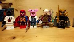 Bat-Villains (LordAllo) Tags: lego dc batman black mask crazy quilt professor pyg maxie zeus prometheus