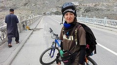 A New Record Has Been Accomplished! (DPakistanOfficial) Tags: pakistan karakoram mountains range travel cyclist cycling tourism women adventure