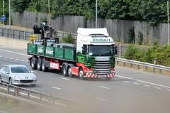 Eddie Stobart 'Esme Christina' (stavioni) Tags: esl eddie stobart group truck trailer lorry m4 reading esme christina h2262 mol mechanical off load po15unj scania r450