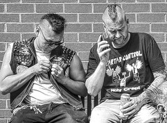 When the Punks Grew up 21 (lightandform) Tags: people punks street festival conflict strange attitude faces wanderers skinheads loitering
