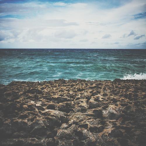 Rocks before the beach