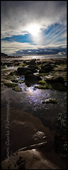 Crackington Haven Portrairt FE (Simon Clarke Photography) Tags: crackingtonhaven cornwall portrait sky sea water reflection clouds rocks beach holiday summer simonclarkephotography simon clarke harlow essex canon 80d stitching north northcornwall hot