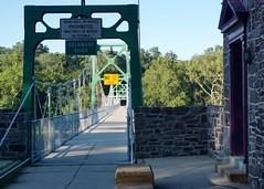 Footbridge over the Delaware River (The Wide Wide World) Tags: buckscounty pennsylvania pa newhope footbridge bridge delawareriver lumberville river