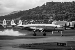 Super Connie (tom.leuzi) Tags: bw bern berne bewegung canonef70200mmf4lisusm canoneos6d flieger flughafen flugzeug jet schweiz switzerland action airplane airport blackandwhite motion plane schwarzweiss smoke takeoff superconstellation breitlingsuperconstellation superconnie belp bernbelp oldtimer