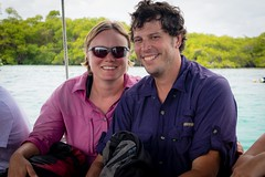 Nici and Philip in the Galapagos.