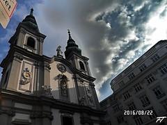 Mariahilferkirche (triziofrancesco) Tags: chiesa church triziofrancesco austria wien vienna mariahilferkirche nubi clouds