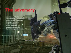 The Adversary 1 (quartzroolz) Tags: quartz roolz moc big burly man bionicle robot toa titan android bustersword guns skull spider mask god thats alot over design