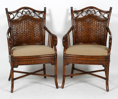 4 Rattan Look Dining Chairs ($224.00)