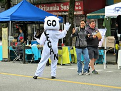 Go Vegan (knightbefore_99) Tags: commercialdrive carfreeday bc vancouver thedrive eastvan 2016 city party candid cool awesome west coast go vegan cow
