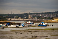 366/256 12Sep16 Portchester Castle from Rudmore (Romeo Mike Charlie) Tags: portchester castle portsmouth harbour boats portsea island norman architecture roman