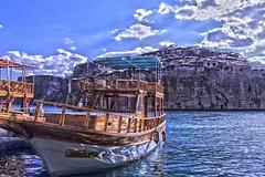 (sevgiyilmaz1) Tags: clouds boat trip nature blue sky river frat turkey anlurfa hdr halfeti