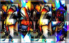 Ladies of the Industrial North (Joe Vance aka oliver.odd) Tags: art artistic abstract surreal blending vision fading spectators drivin desk cars ladies optional treatment stressed face beauty chaos