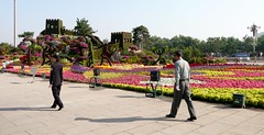 Topiary Great Wall And Officials (chdphd) Tags: beijing tiananmensquare tiananmen square