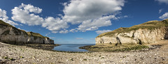 North Landing, Flamborough (Keartona) Tags: northlanding flamborough yorkshire england coast beach chalk cliffs sunny tourism britain coastline beautiful september panorama seaside clouds bluesky sea pebbles