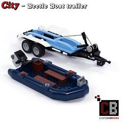 LEGO_Custom_VW_Beetle_10252_Boot_CB04 (LA-Design2012) Tags: lego custom moc city expert creator 10252 vw beetle boot boat anhnger trailer custombricks