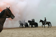 Prinsjesdag - Strandoefening Cavalerie Ere-Escorte (Roelie Wilms) Tags: scheveningen denhaag paarden trompetterskorps cavalerieereescorte prinsjesdag strandoefening oefenmunitie rookbommenmuziek militairen   equine equ  heste pferde horses cavalier hobuste hevos chevalin hynstesintrum equino       perde l hrossum kuda      konjski zirga arkli chance  ekwina  hest  ot  koski cabalin  each   kosk  ni v nga