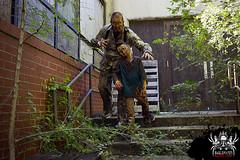 Can't escape (SlayervilleProd) Tags: zombie makeup halloween baldwinasylum slayerville slayervilleproductions undead hauntedhouse baldwinasylum2016videoshoot