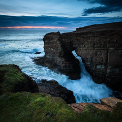 Tonight's Yesnaby (Premysl Fojtu) Tags: yesnaby cliff cliffs sea northsea seascape landscape waterscape water waves square orkney island mainland scotland uk ndfilter 32x longexposure evening dusk twilight colour dramatic dreamscape countryside country rural coast coastline shore shoreline arch nature natural goldenhour september 2016 dslr canon eos 5dmkii fullframe ef1740
