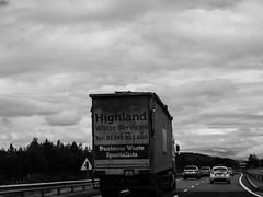 Voyage au bout de l'ile #2 (franleru1) Tags: bw camion ciel ecosse nb nature nuage omdem5 olympus paysage route scotland uk window blackandwhite clouds monochrome noiretblanc road truck