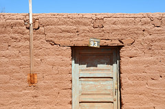 Typical adobe street in San Pedro de Atacama / Chile (anji) Tags: chile southamerica americasur latinamerica northernchile sanpedrodeatacama atacamadesert