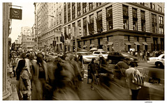 Swinging New York (Lanfranco_B) Tags: new york white black sepia swing swinging bianco nero seppia mygearandme blinkagain