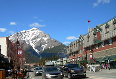 A Beautiful Sunny Day in Banff (I'm cindylouwho2) Tags: summer vacation canada tourism sunny alberta banff rockymountains geology banffnationalpark mountainrange canadianrockies snowcappedpeaks