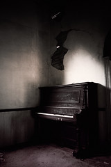 old haunts (handywallsii) Tags: old abandoned church decay ruin piano haunted ghosts