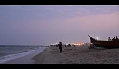 River & Sea are one.. (ajitchouhan) Tags: sunset sea nature marinabeach chennai