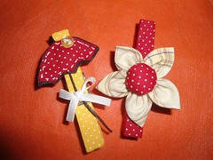 Prendedor Decorado (Simo www.criandoeinovando.elo7.com.br) Tags: chuva fuxico guarda tecido prendedor decorado