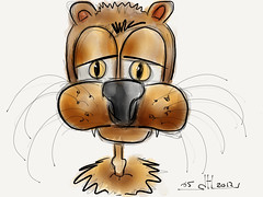 'King' of the jungle - NOT Paper 53 speed sketch on the ipad 2 (WouterZArtZ - Dutch Designs!) Tags: animal illustration sketch comic drawing cartoon lion ipad madewithpaper ipad2 paperapp paper53 learningpaper