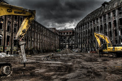 HDR . (Michis Bilder) Tags: abandoned industrial places hdr komatsu wasteland excavator