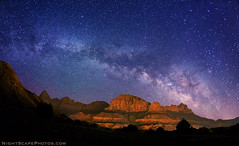 "Milky Way stars over Zion National Park (IronRodArt - Royce Bair (""Star Shooter"")) Tags: stars bravo nightscape zionnationalpark constellations nightscapes starrynightsky"