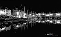 Midnight Reflections (Benji P. Photo) Tags: sea panorama paris color photoshop french photography boat photo mac nikon post pano picture 360 pic adobe software intel processing pro p nik editing normandie honfleur pict normandy hdr benji francais panoramique lightroom deauville retouche d90 photomatix dfine macbook cs5 efex viveza oloneo