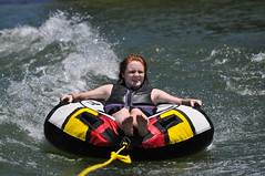 "Rach (""On the Rox"") Tags: waterskiing watersports tubing slalom lakemartin slalomcourse"