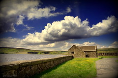 (andrewlee1967) Tags: winscarreservoir yorkshire dunfordbridge sonynex3 andrewlee1967 bw sky clouds wall andrewlee