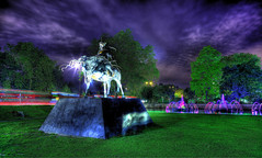 Genghis Khan Sculpture at Marble Arch (Anatoleya) Tags: sculpture horse 3 london statue night canon prime evening long exposure arch mark f14 iii 5d 24mm marble khan hdr genghis 5d3 anatoleya