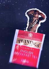 Twinings of... da igual (Cromo Lab) Tags: red hairy breakfast starwars fridge rojo furry mood tea humor jedi magnet stupidity teabag chewbacca t cromo absurdo twining psbrush