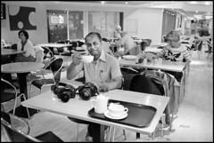 Cameras and Coffee (*monz*) Tags: camera leica blackandwhite bw coffee zeiss 35mm table hall birmingham chair tea kodak iso400 trix 150 carl tray teapot f2 cz rodinal icc m6 symphony brum 20c aftab biogon monz 13m 5dmk2 5dmk3