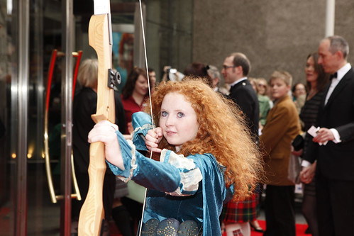 Archer on the red carpet for the European premiere of Brave at the Festival Theatre