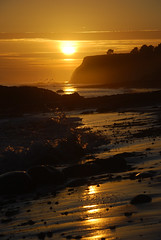 Bowling Ball Beach Sunset Waves (Doreeno) Tags: california statepark june coast pacific mendocino 2012 schoonergulch schoonergulchbeach