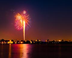 Fourth of July at Nassau Bay (jackchalat) Tags: light colors firework fourthofjuly independenceday exposurestacking
