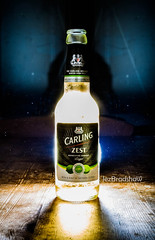Carling Zest (Jez Bradshaw Photography) Tags: beer canon photography back bottle warm l 17 series 40 lit tones f4 1740 jez lager bottled bradshaw carling zest 1000d