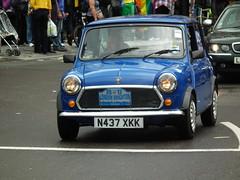 Mini Sprite (kenjonbro) Tags: uk blue england london westminster trafalgarsquare sprite mini rover automatic 1995 charingcross sw1 1275cc kenjonbro fujihs10 worldpride2012 n437xkk