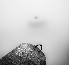 under the surface (StephenCairns) Tags: blackandwhite bw water japan canon river cement  breakers submerged gifu highwater  motosu nagarariver   ruraljapan  stephencairns canon5dmarkii