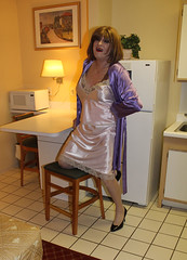 new52388-IMG_5361t (Misscherieamor) Tags: kitchen tv feminine cd tgirl transgender mature sissy tranny transvestite slip kimono satin crossdress ts gurl tg travestis travesti travestie m2f xdresser tgurl
