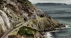 Brayhead, Co Wicklow, Ireland. (2c..) Tags: railroad ireland sea sky seascape mountains skyscape railway trains dailycommute best railcar wicklow railways dart irishrail 2c irishrailways irishtrains 5dmk2 72dpipreview lowresolutionpreview 2c