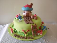 bolo smurfs (Lucianna Chaves) Tags: cake bolo smurfs