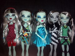 The Many Faces of Frankie (blkpuddle) Tags: monster frankie mh mattel frankiestein gloombeach dawnofthedance monsterhigh homeick dayatthemaul flickrandroidapp:filter=none skullshores
